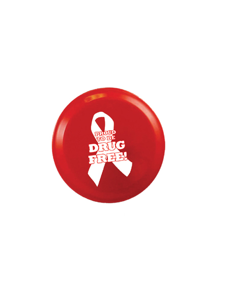 Proud to Be Drug Free! 4 inch Flying Disk
