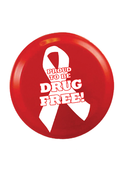 Proud to Be Drug Free! 9 inch Flying Disk