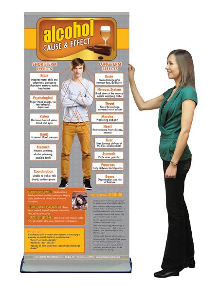 C&E Alcohol Retractable Presentation Banner w/Stand