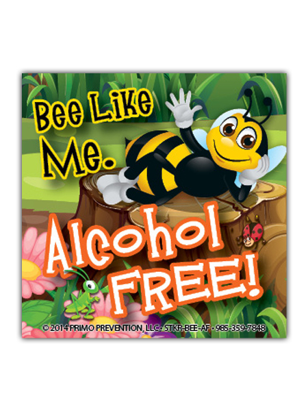 Bee Like Me: Alcohol Free Sticker