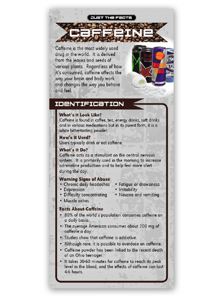 Just the Facts Rack Card: Caffeine