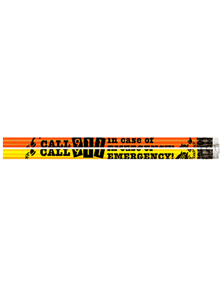Call 911 in Case of Emergency Pencil
