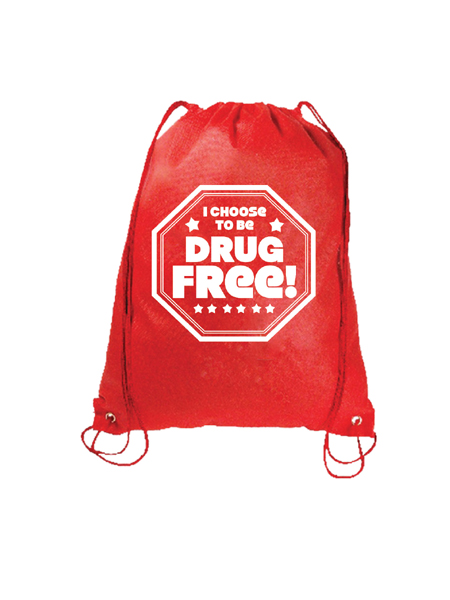 I Choose to Be Drug Free! Drawstring Backpack