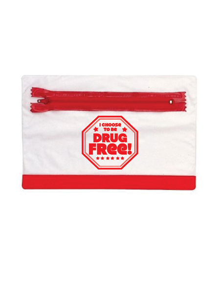 I Choose to Be Drug Free! Pencil Pouch