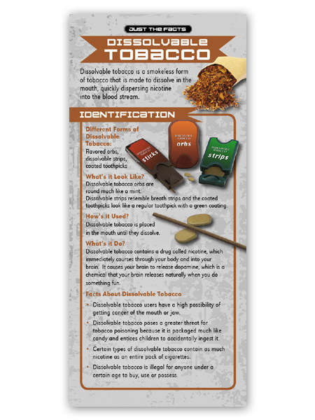 Just the Facts Rack Card: Dissolvable Tobacco