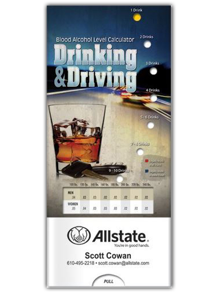 Drinking & Driving Blood Alcohol Level Calculator Pocket Slider