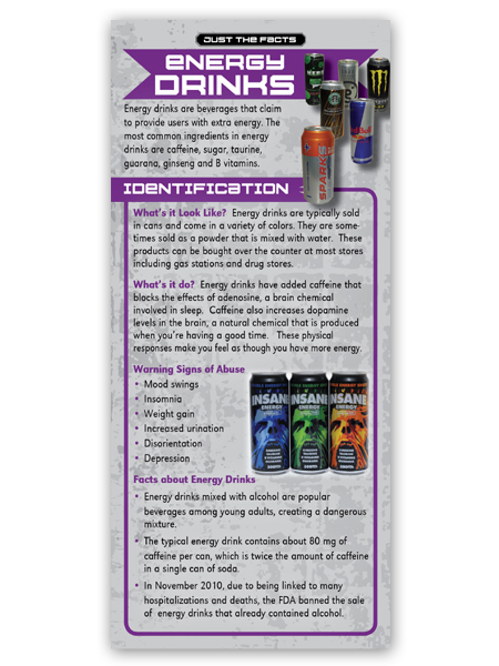 Just the Facts Rack Card: Energy Drinks