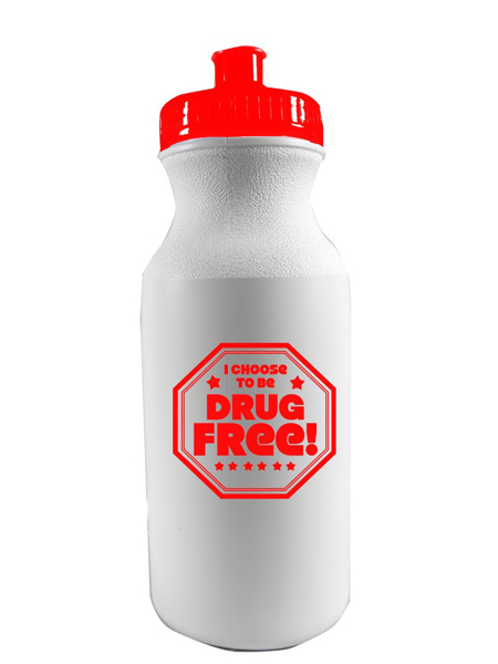 I Choose to Be Drug Free! 20 oz. Sports Bottle
