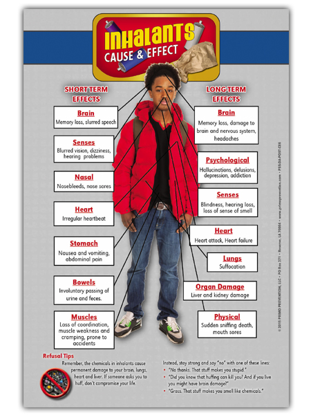 Inhalants Cause & Effect Mini Poster