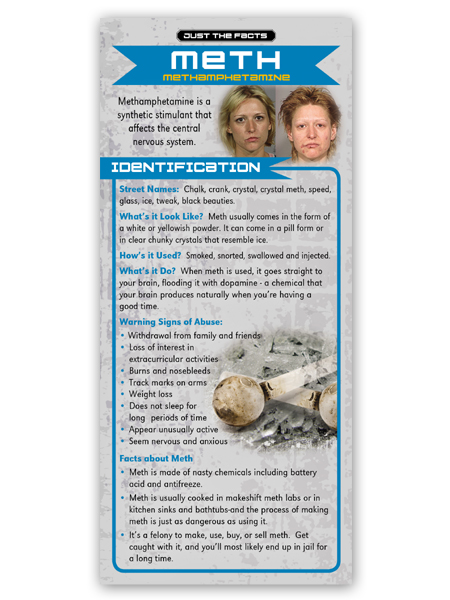 Just the Facts Rack Card: Meth (Methamphetamine)