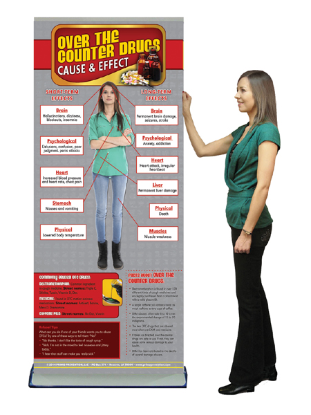 C&E Over the Counter Drugs Retractable Banner w/Stand