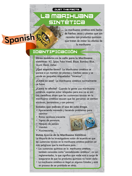 *SPANISH* Just the Facts Rack Card: Synthetic Marijuana