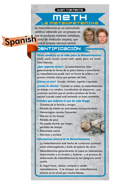 *SPANISH* Just the Facts Rack Card: Meth (Methamphetamine)