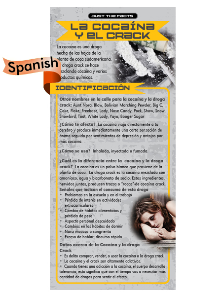 *SPANISH* Just the Facts Rack Card: Cocaine & Crack