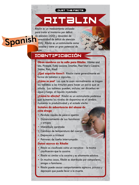 *SPANISH* Just the Facts Rack Card: Ritalin