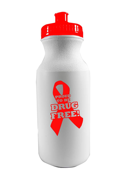 Proud to Be Drug Free! 20 oz. Sports Bottle