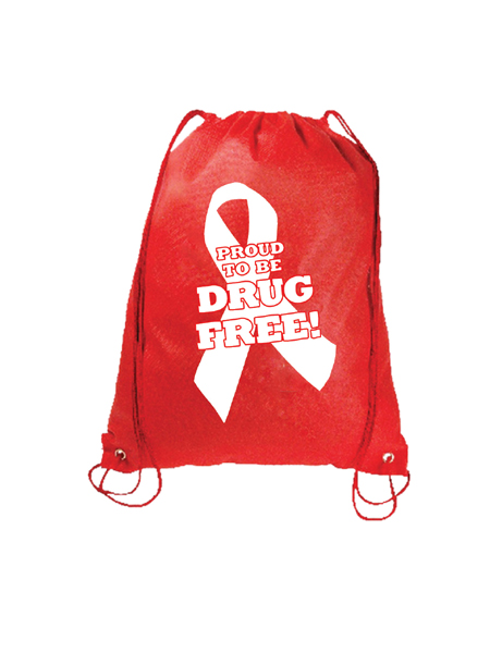Proud to Be Drug Free! Drawstring Backpack