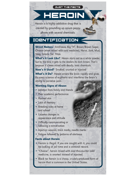 Just the Facts Rack Card: Heroin