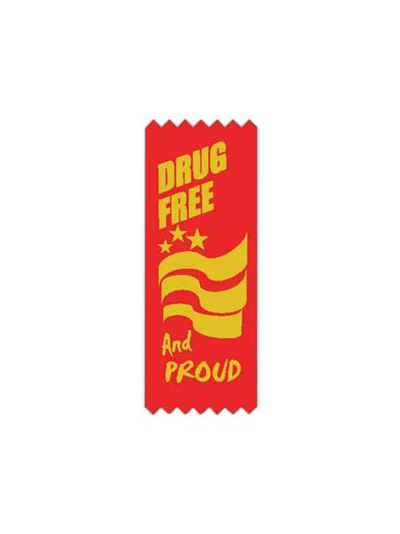 Drug Free and Proud Awareness Ribbon