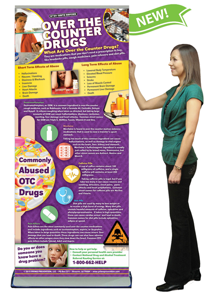 Over the Counter Drugs Retractable Banner w/Stand