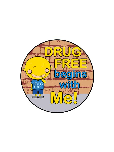 Drug Free Begins With Me Button