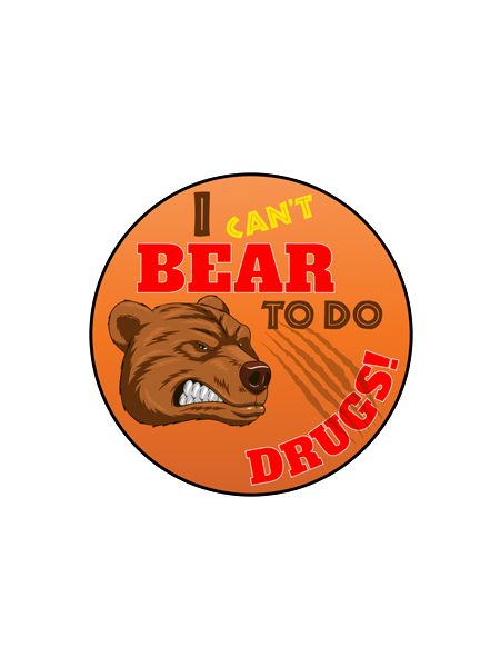 I Can't Bear To Do Drugs Button
