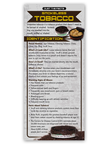 Just the Facts Rack Card: Smokeless Tobacco