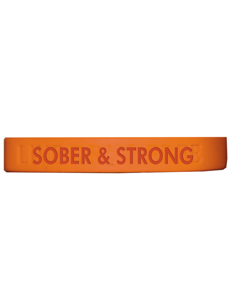 Sober & Strong Silicone Wristband