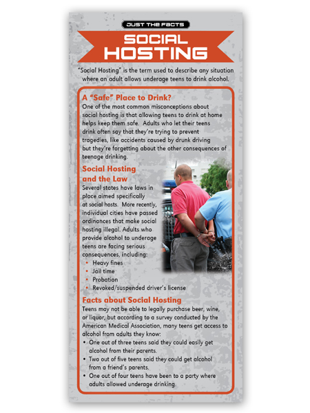 Just the Facts Rack Card: Social Hosting