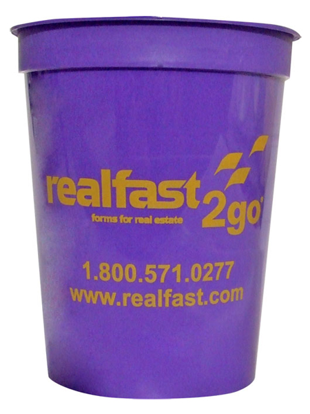 16oz. White or Colored Stadium Cup