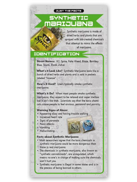 Just the Facts Rack Card: Synthetic Marijuana