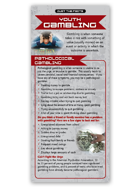 Just the Facts Rack Card: Youth Gambling