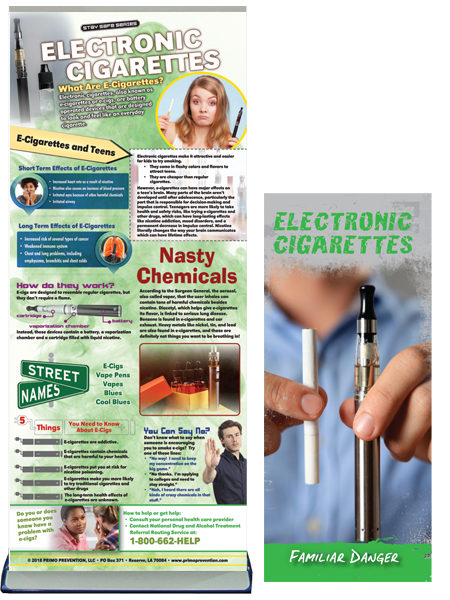 Electronic Cigarette Retractable Banner Package
