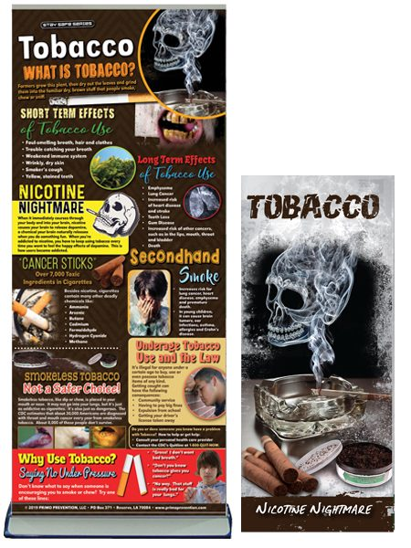 Tobacco Prevention Retractable Banner Package