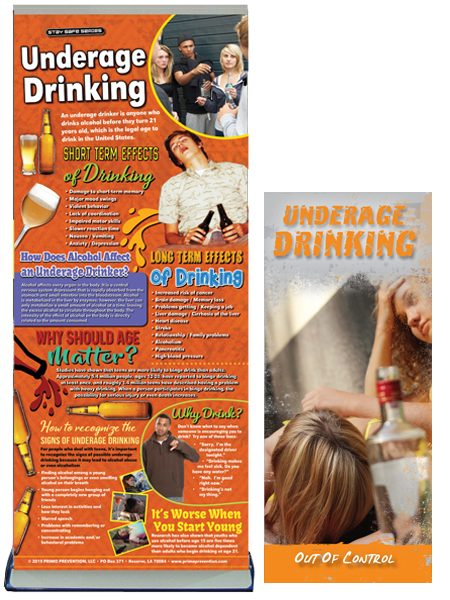 Underage Drinking Retractable Presentation Banner Package