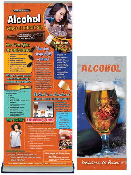 Alcohol Retractable Presentation Banner Package