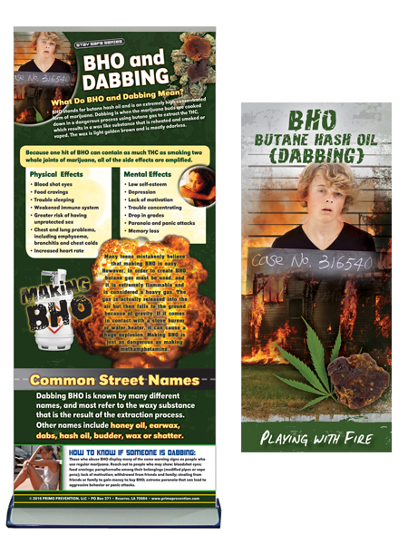 BHO (Butane Hash Oil) Dabbing Retractable Banner Package