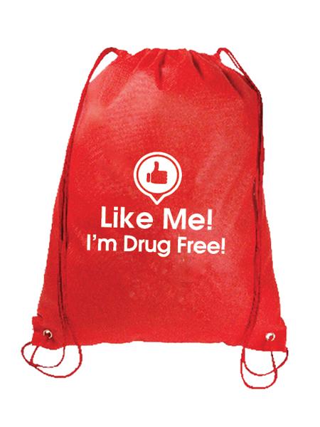 Like Me, I'm Drug Free Drawstring Backpack