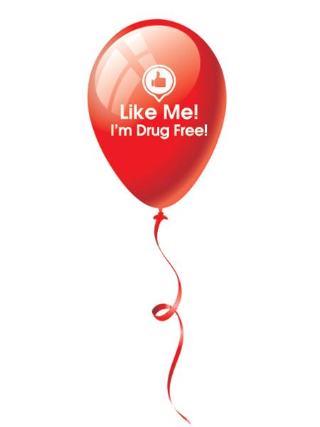 Like Me, I'm Drug Free! 9 inch Latex Balloon