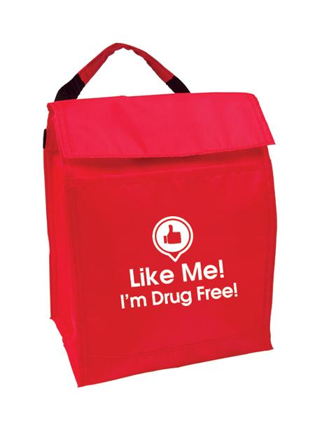 Like Me, I'm Drug Free! Lunch Cooler Bag