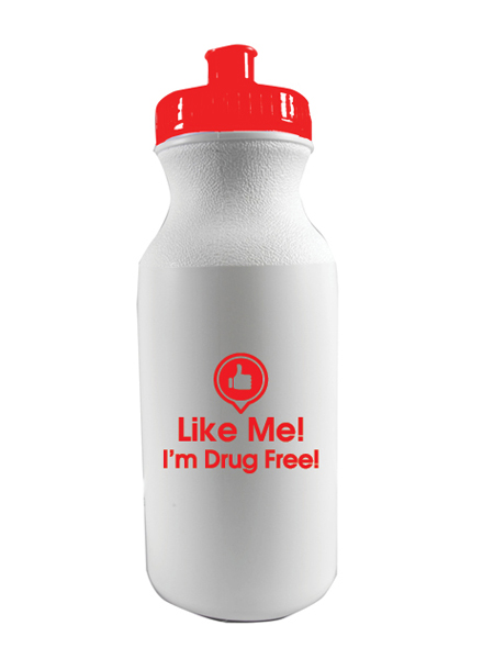 Like Me, I'm Drug Free! 20 oz. Sports Bottle