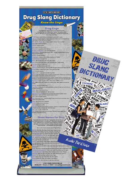 Drug Slang Dictionary Retractable Banner Package