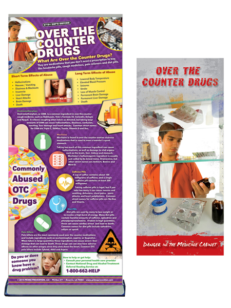 Over the Counter Drugs Retractable Banner Package