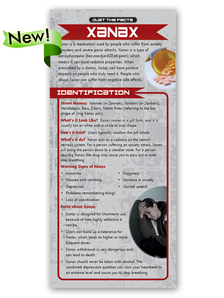 Just the Facts Rack Card: Xanax