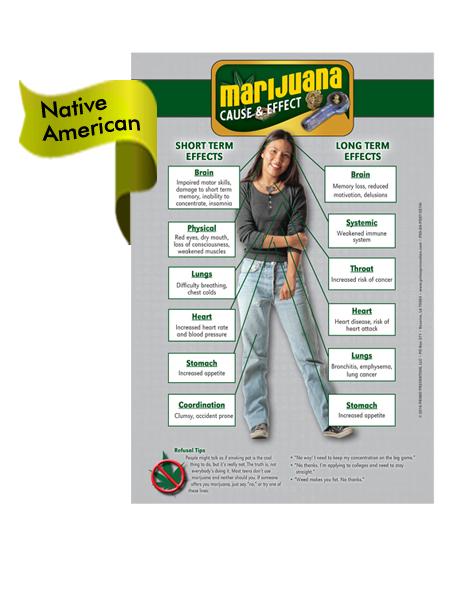 *NATIVE AMERICAN VERSION* Marijuana Cause & Effect Mini Poster