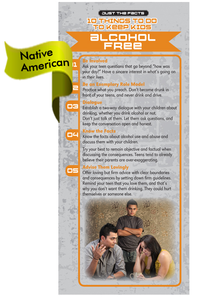 *NATIVE AMERICAN VERSION* 10 Things Alcohol Free Rack Card