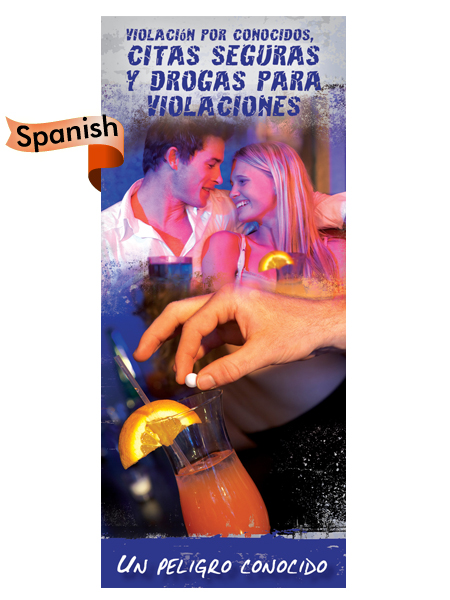 *SPANISH* Acquaintance Rape, Safe Dating & Drugs Pamphlet
