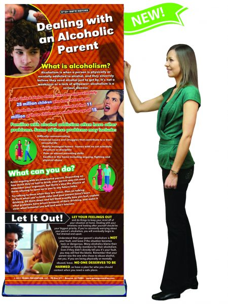 Dealing with an Alcoholic Parent Presentation Banner w/Stand