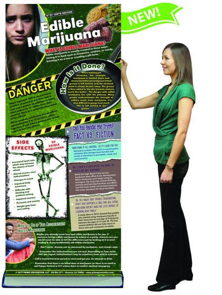 Edible Marijuana Retractable Banner w/Stand