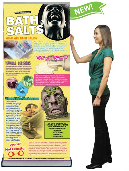Bath Salts Prevention Retractable Banner w/Stand